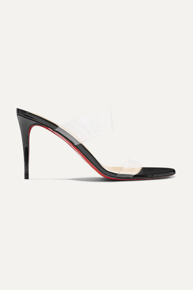 eaa948de7bb Christian Louboutin. Just Nothing 85 PVC and patent-leather mules