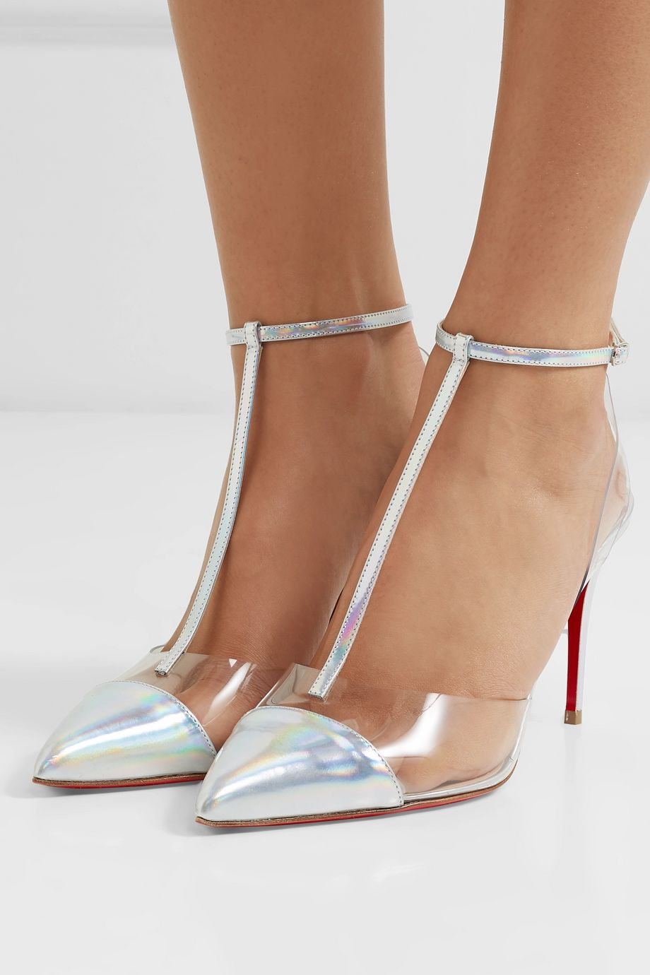 Christian Louboutin Nosy 85 patent-leather and PVC pumps