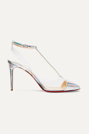 Nosy 85 patent-leather and PVC pumps