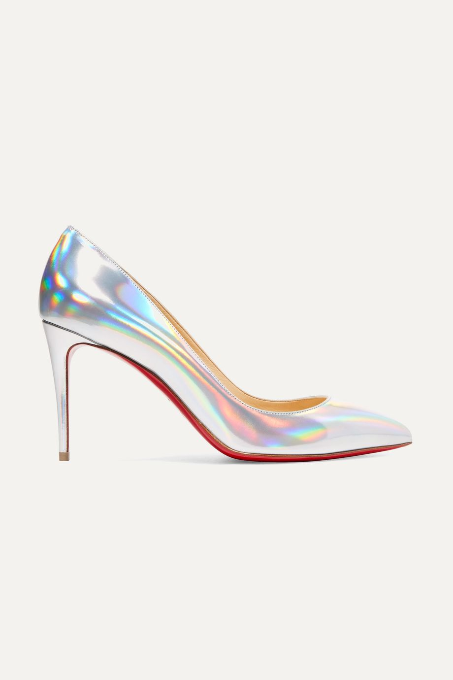 Christian Louboutin Pigalle Follies 85 iridescent leather pumps