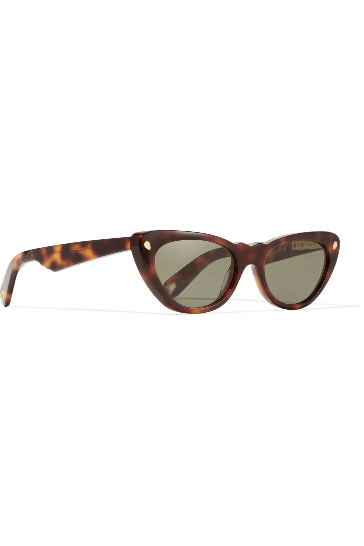 Lucy Folk Slice of Heaven cat-eye tortoiseshell acetate and gold-tone sunglasses