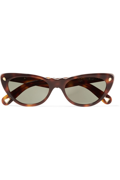 a3bb45ab92 Slice Of Heaven Cat-eye Tortoiseshell Acetate And Gold-tone Sunglasses ·  Brown Frequent Flyer aviator sunglasses · Lucy Folk