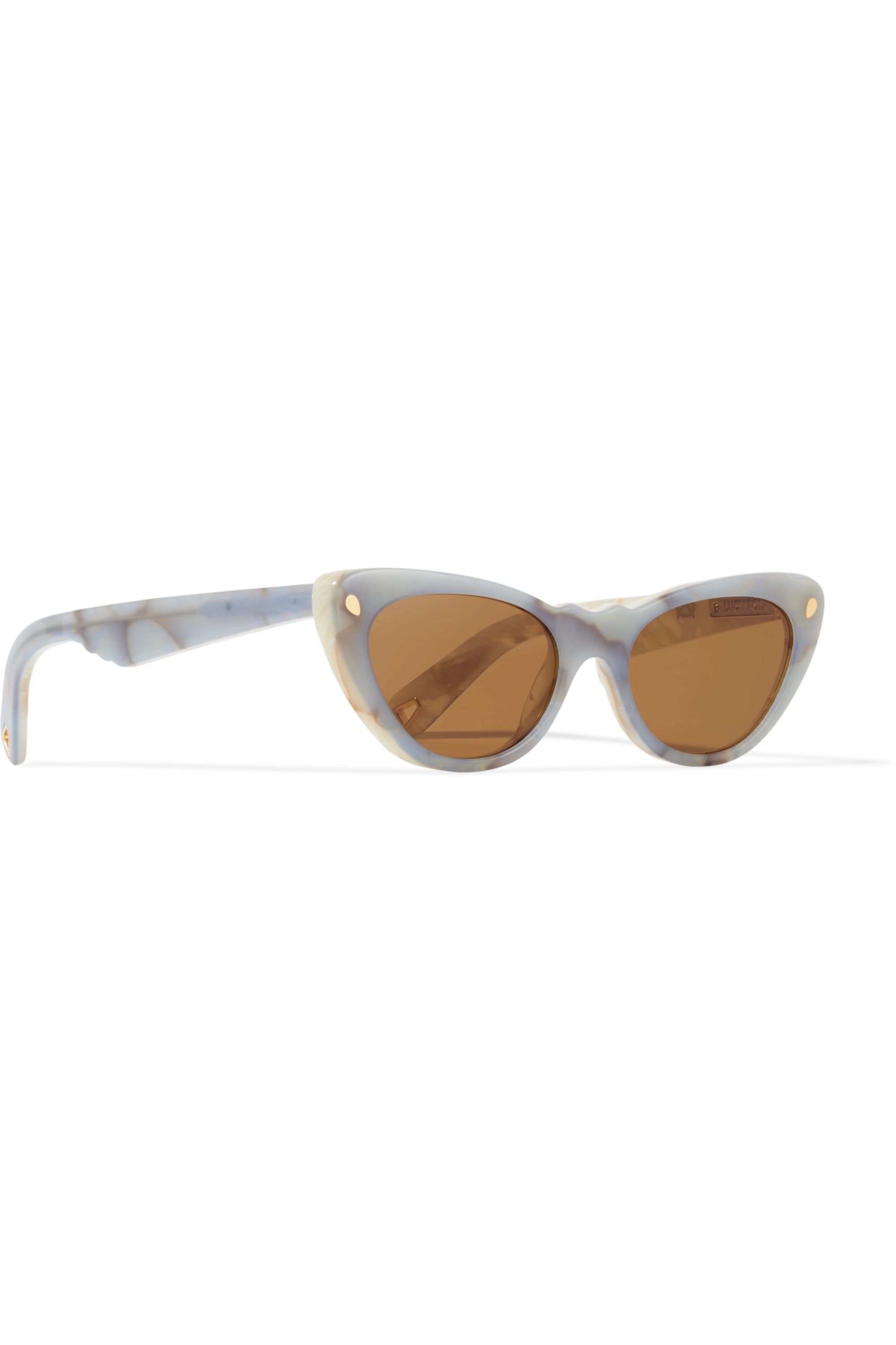 Lucy Folk Slice of Heaven cat-eye acetate and gold-tone sunglasses