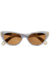 Slice of Heaven cat-eye acetate and gold-tone sunglasses