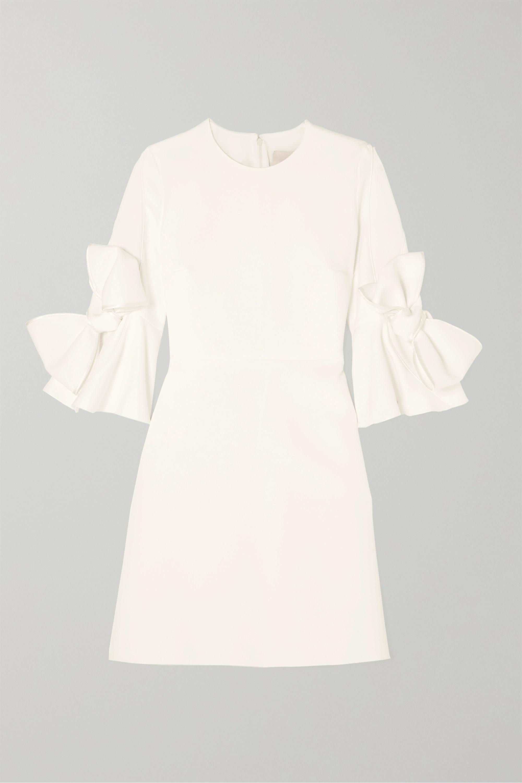 Roksanda Double Ricciarini bow-embellished satin-trimmed crepe dress