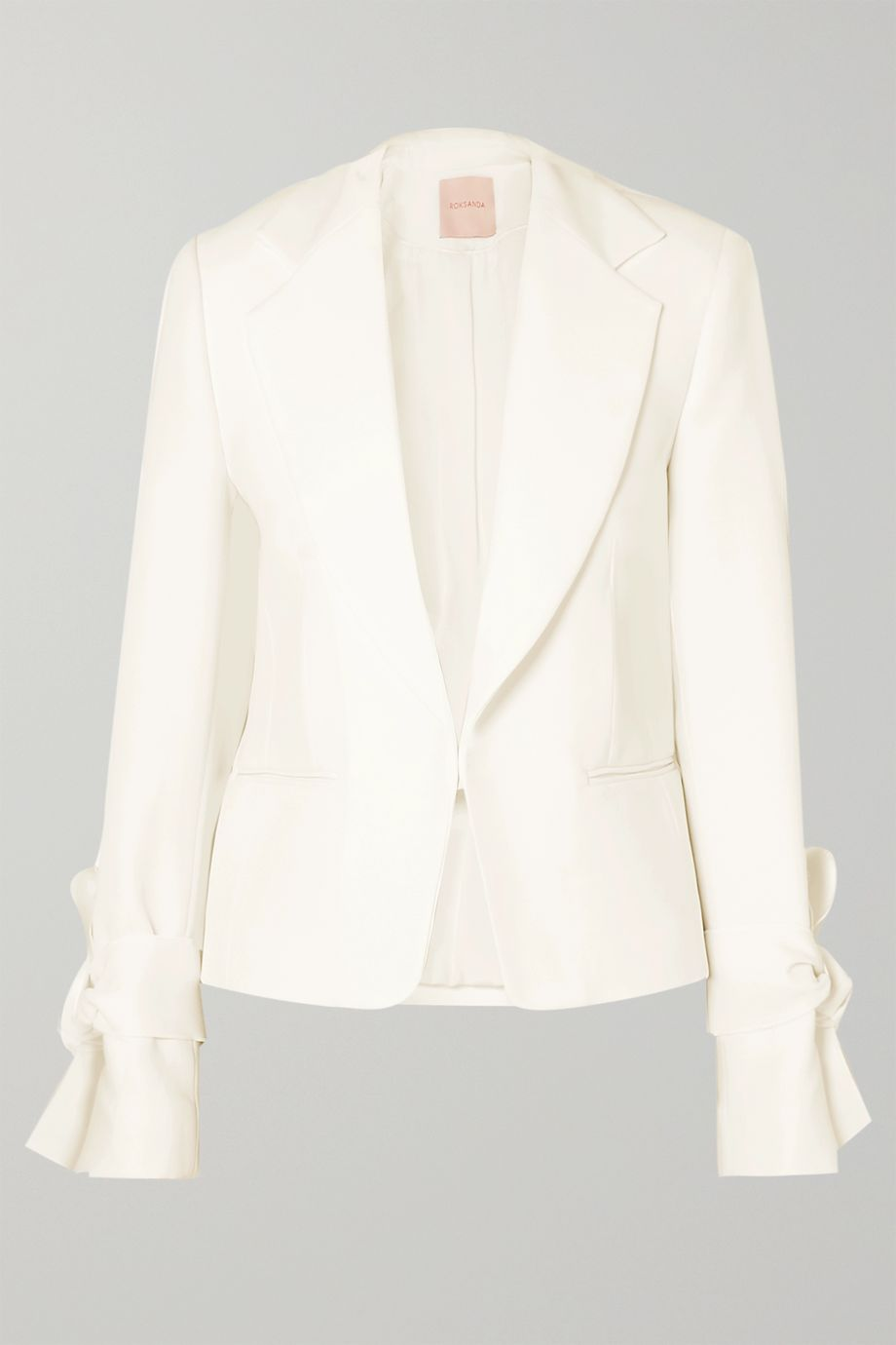 Roksanda Bow-detailed cady jacket