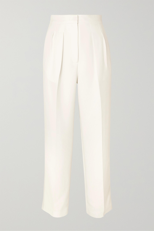 Roksanda Pleated cady straight-leg pants