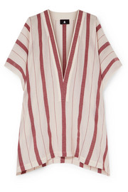 SU Paris Buka striped cotton-gauze tunic