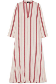 SU Paris Kiku striped cotton-gauze kaftan