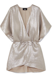 SU Paris Kana metallic linen wrap