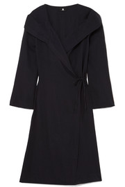 SU Paris Memo cotton-gauze hooded robe