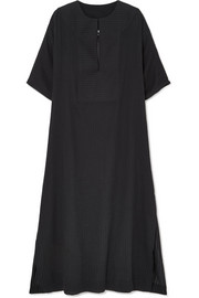 SU Paris Tia ribbed cotton-voile kaftan