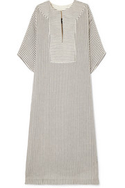 SU Paris Tia striped cotton-gauze kaftan