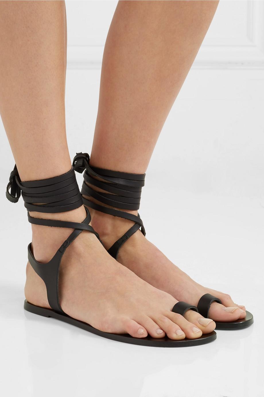 ATP Atelier Candela 皮革凉鞋