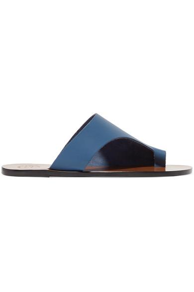 ATP ATELIER | ATP Atelier - Rosa Cutout Leather Sandals - Blue | Goxip