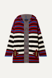Alanui Hooded wool-jacquard cardigan