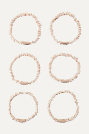 Set of 6 Hair Ties - Coco