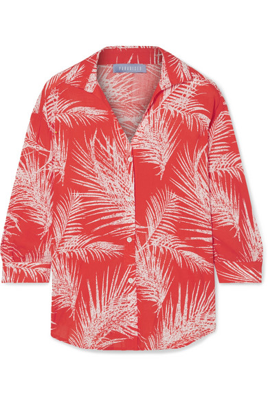 PARADISED Printed Voile Shirt in Red