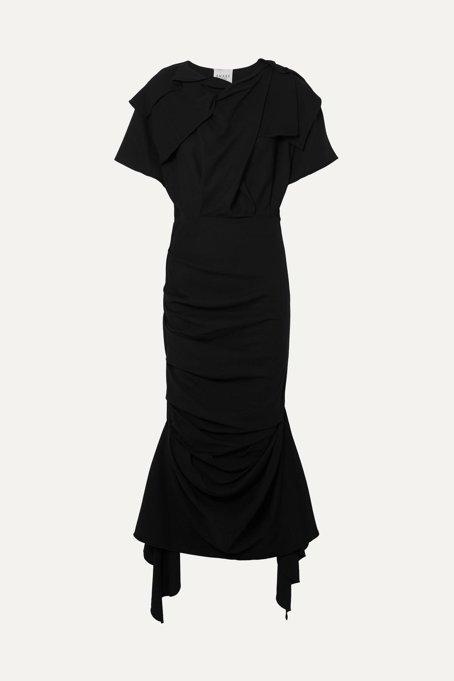 A.W.A.K.E. | Draped stretch-crepe maxi dress | NET-A-PORTER.COM