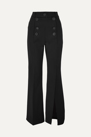 A.W.A.K.E. Button-embellished crepe flared pants
