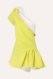 Maticevski Enfanta one-shoulder ruffled cady mini dress