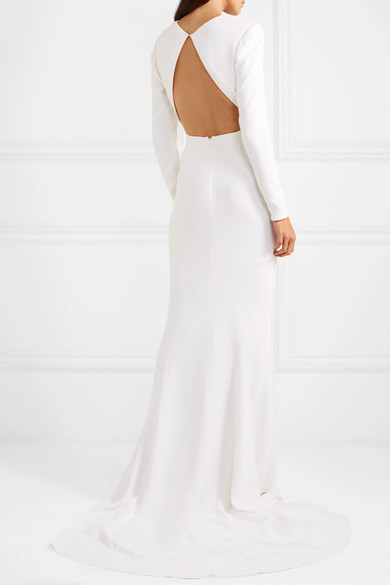 Stella Mccartney Dress Open-back stretch-crepe gown