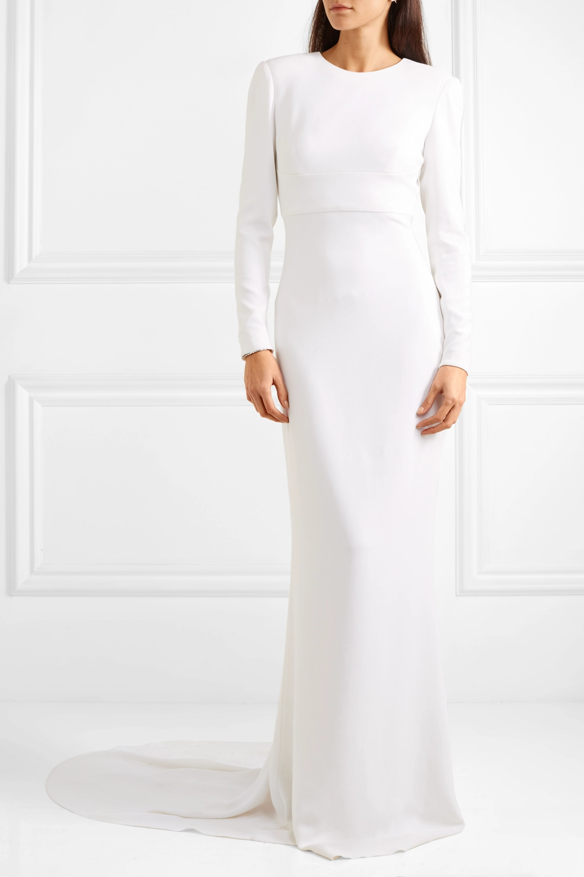 Stella McCartney Open-back stretch-crepe gown