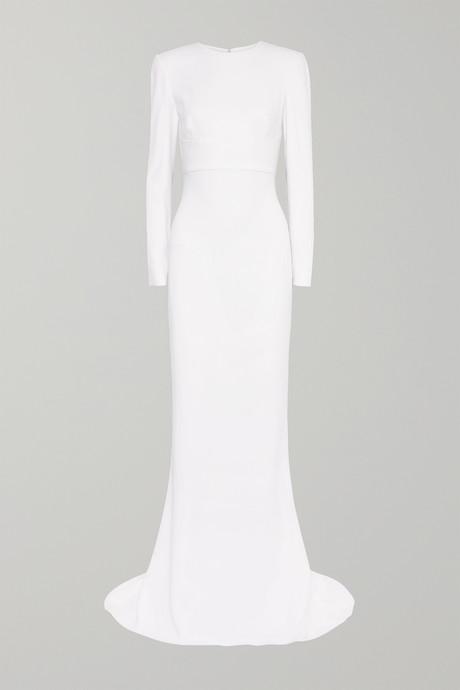 White Open-back stretch-crepe gown | Stella McCartney XZU2MI