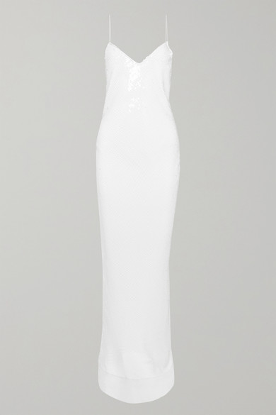 Stella Mccartney Dress Sequined silk-chiffon gown