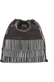 Ryan mini fringed leather bucket bag