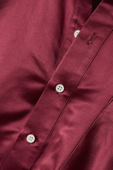 494a0fcad4447c Matthew Adams Dolan. Oversized silk-charmeuse shirt.  750. Seasonal pick.  Play