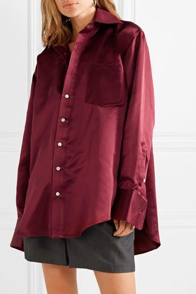 9a10077eec0ab2 Matthew Adams Dolan. Oversized silk-charmeuse shirt