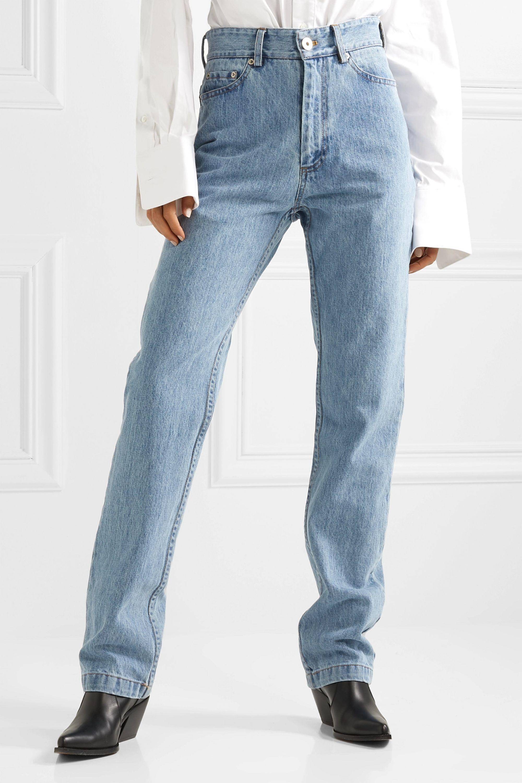 Matthew Adams Dolan High-rise straight-leg jeans
