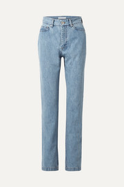 Matthew Adams Dolan High-rise straight-leg jeans