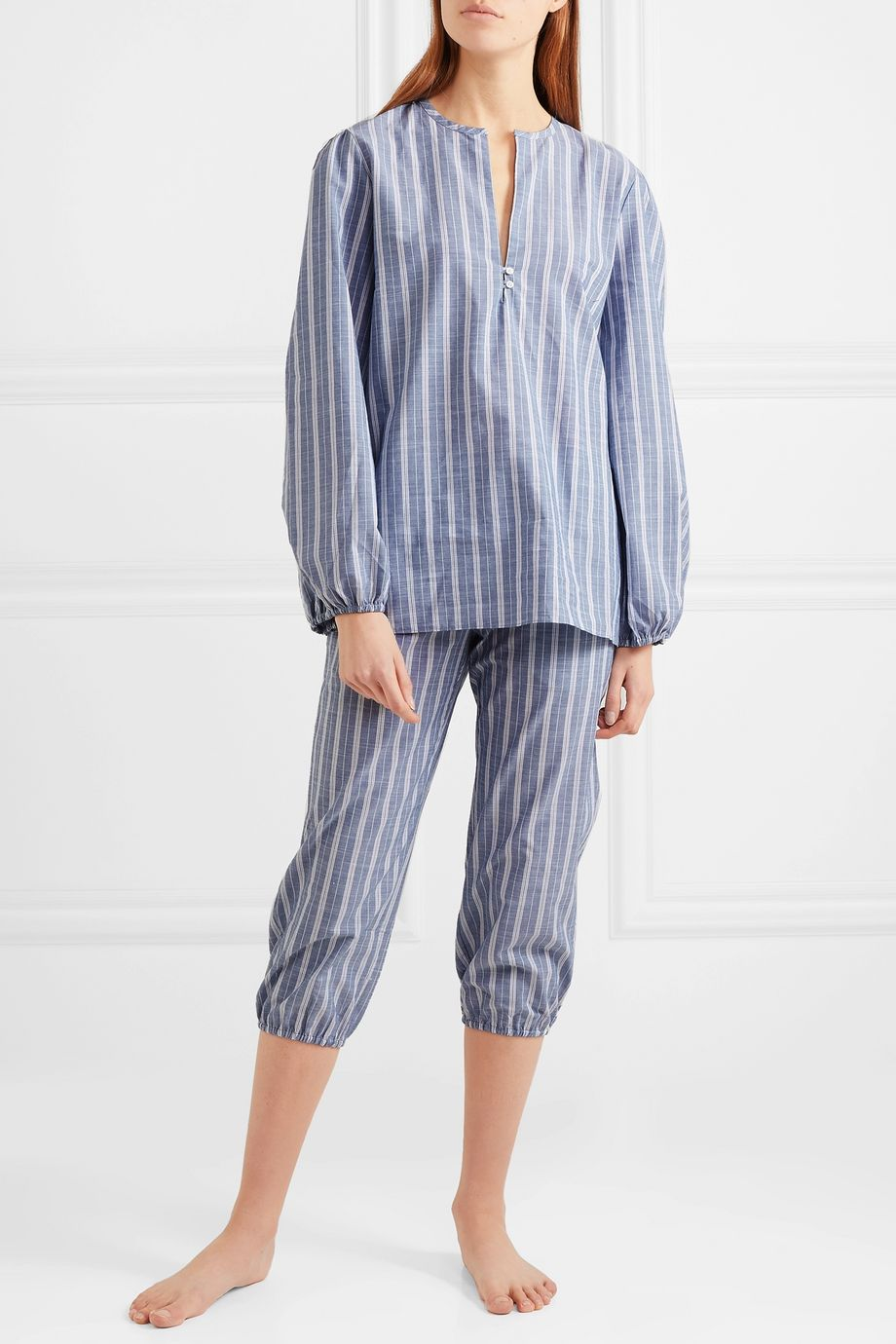 Three J NYC Striped cotton pajama set