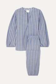 Three J NYC Striped cotton pajama set