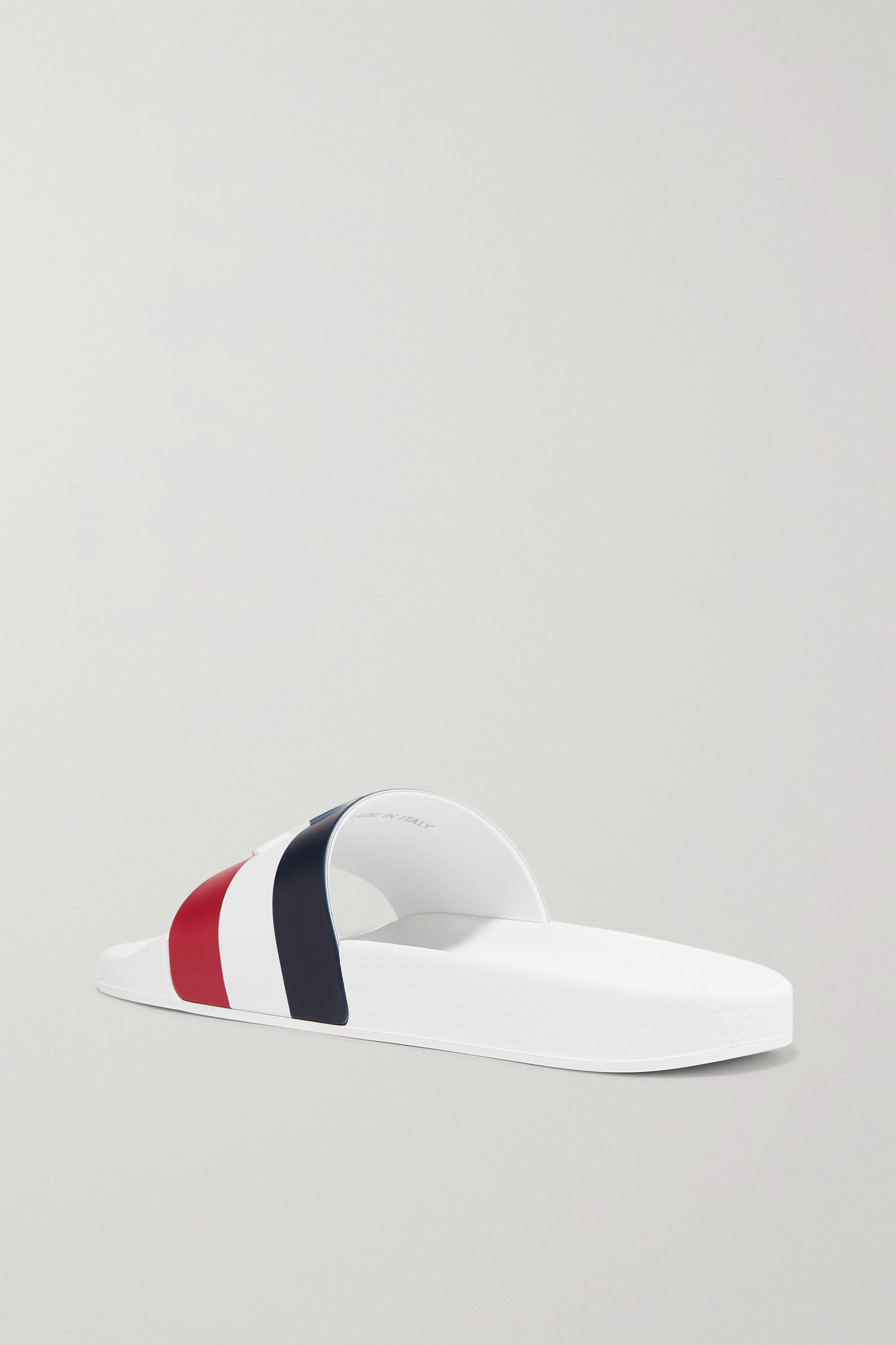 Moncler Striped rubber slides