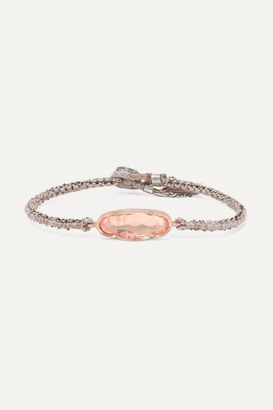 BROOKE GREGSON Icicle 14-Karat Rose Gold, Sterling Silver And Morganite Bracelet
