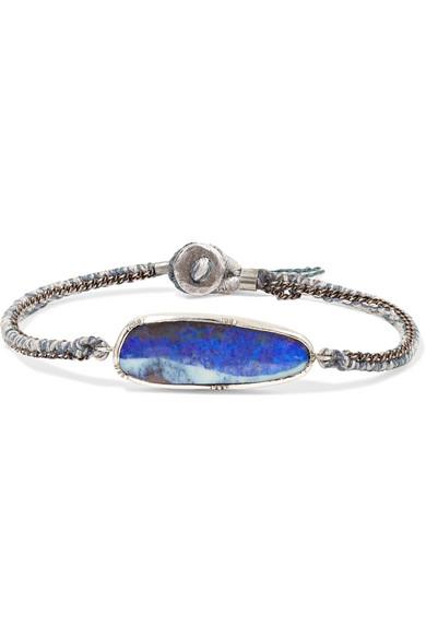 BROOKE GREGSON Ellipse 18-Karat Gold, Silver And Opal Bracelet