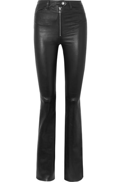 SPRWMN   SPRWMN - Leather Flared Pants - Black   Goxip