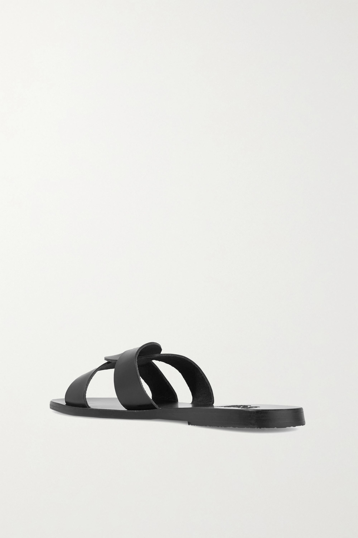 Ancient Greek Sandals Desmos cutout leather slides