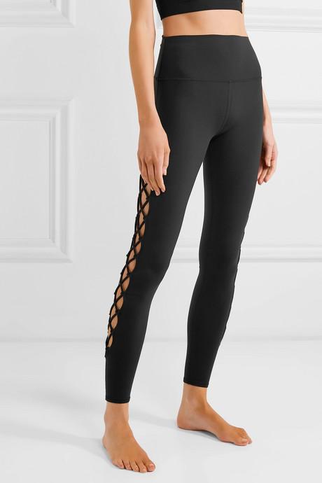 Interlace stretch leggings