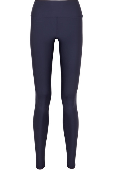 ALO YOGA | Alo Yoga - Airlift Stretch Leggings - Navy | Goxip