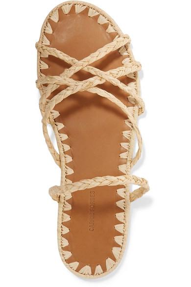 7d9178868f21 Carrie Forbes. Noura braided raffia sandals.  265. Seasonal pick. Zoom In