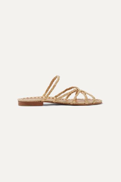456aeec8bf2b Carrie Forbes. Noura braided raffia sandals