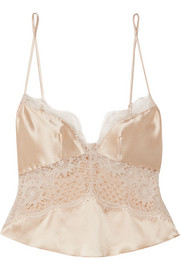 Grand Soleil silk-satin and lace camisole