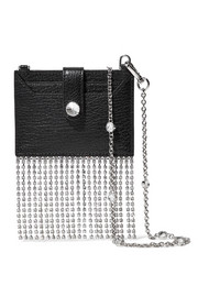 Miu Miu Madras crystal-embellished textured-leather shoulder bag