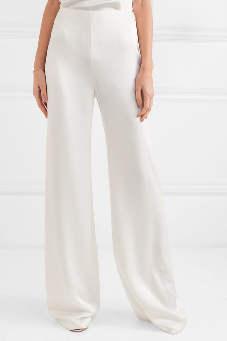 Selina satin wide-leg pants