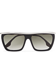 Victoria Beckham D-frame acetate and silver-tone sunglasses