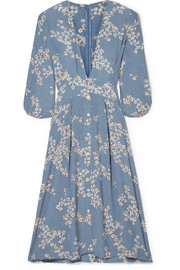 Faithfull The Brand Chloe tie-detailed floral-print crepe midi dress